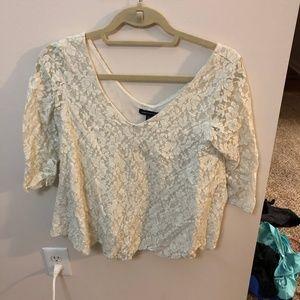 Lace half-sleeve shirt